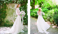 Monet inspired shoot featuring Ada Gown in beautiful Paris
