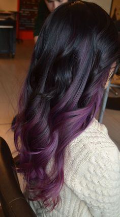 Purple Ombre Hair Color - Best Hair Color for Dark Skin Women Check more at http://www.fitnursetaylor.com/purple-ombre-hair-color/