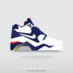 Sneakers Air Force 180 by Marc Heerenveen aka by.marc