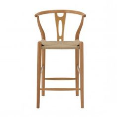 Replica Hans Wegner Wishbone Counter Stool – Beech