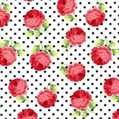 Rosy Dots in Ebony by Bobbie Lou's Fabric Factory