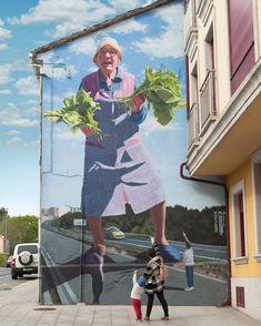 The great murals of Galician superhero grandmothers from Jo .- Los geniales murales de abuelas gallegas superheroínas de Joseba Muruzábal – L… The great murals of superheroine Galician grandmothers by Joseba Muruzábal – La Criatura Creativa - Murals Street Art, Graffiti Art, 3d Street Art, Street Art Graffiti, Mural Art, Street Artists, Arte Banksy, Urbane Kunst, Art Du Monde