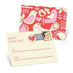 LOVE! Valentine's Day Cards for Kids -- Kissed Photo Stamp. Get $20 off your first order of $40 or more with this link: http://www.peartreegreetings.com/Elvis/referred.jsp?share=945430