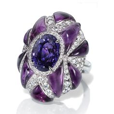 LEVIEV Purple Sapphire and Diamond Ring totaling 24.70 carats.