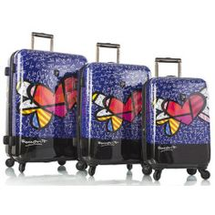 0dda69b66 Heart with Wings 3 Piece Spinner Luggage Set Best Luggage, Luggage Sets, Suitcase  Set