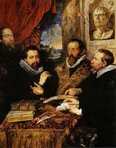 "#Rubens  --  ""The Four Philosophers""  --  Circa 1611  --  Peter Paul Rubens  --  Flemish  --  Galleria Palatina  --  Florence, Italy"