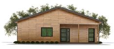 House Plan Small home plan Cabin House Plans, Craftsman House Plans, Modern House Plans, Small House Plans, House Floor Plans, Cabin Homes, Log Homes, Mercer House, Tiny House Living