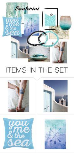 """Santorini"" by kapkadesign ❤ liked on Polyvore featuring art"