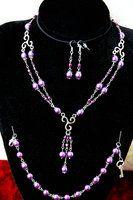 Purple Pearl Jewel Set by FxSolya