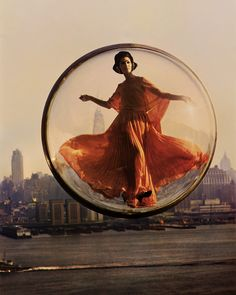 In the '60s, Models Floated Through Paris in Bubbles   One frame in the series is set against the other capitol city of fashion, New York     WIRED.com