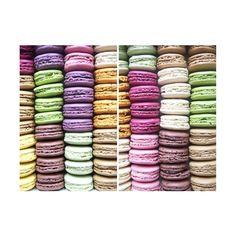 100 Ladurée Macarons ❤ liked on Polyvore