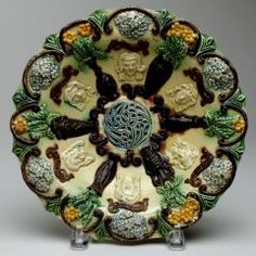 Dish EDWARD W. BINGHAM (ENGLISH, b. 1829–POSSIBLY 1905) 1895  CREDIT Gift of Garth Clark and Mark Del Vecchio Carnegie Museum Of Art, Art Museum, Antique Auctions, Decorative Plates, English, Dishes, Antiques, Gifts, Antiquities
