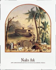 Noah's Ark Art Print by Joseph H. Hidley ... I just LOVE Noah!  Now THAT was a man with Faith!  And Patience!