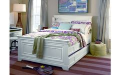 The Classics 4.0 Summer White Full Panel Bed is so dreamy!