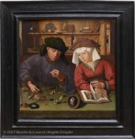 The Moneylender and His Wife | Louvre Museum | Paris - love this and want to talk to my kids about it.