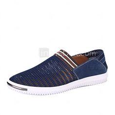 Hombre-Tacón Plano-Confort Suelas con luz-Zapatos de taco bajo y Slip-Ons-Exterior Oficina y Trabajo Informal-Tul- 2017 - $446.27
