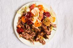 For this lamb shoulder recipe, a bright citrus salad helps balance the richness of the lamb. A stunning main and side all in one dish. Romantic Dinner For Two, Romantic Dinner Recipes, Romantic Dinners, Dinner Ideas, Lamb Recipes, Salad Recipes, Fennel Recipes, Roast Recipes, Liver Recipes
