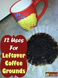 If there is one thing in my house I use on a regular basis and can always count on having on hand… it would be leftover coffee grounds!