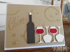 seejanestamp - Supplies: CS: PTI rustic cream, rustic white and kraft. SU! early espresso and cherry cobber. Stamps: PTI uncorked, drips and dribbles. Die: PTI uncorked.
