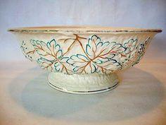 Antiques Tile Majolica Flowerpot Miniature Vintage England Collectibles Ceramic Porcelain By Scientific Process