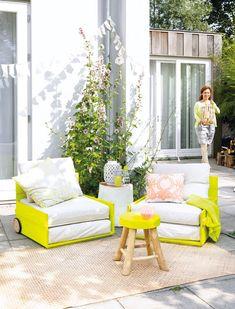 Loungehoek - Lounge corner Kijk op www.101woonideeen.nl #tutorial #howto #diy #101woonideeen #loungehoek #loungecorner