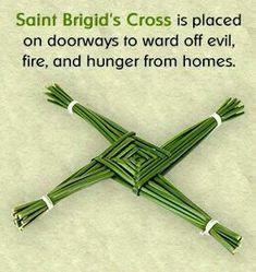 Like shamrock and harp, the Saint Brigid's cross has become a symbol of Ireland. Saint Brigid's cross symbolism - Pinned by The Mystic's Emporium on Etsy Wiccan, Witchcraft, St Brigid Cross, Brigid's Cross, Celtic Symbols, Celtic Knots, Irish Eyes, Irish Blessing, Irish Celtic