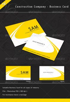 23 best road construction images on pinterest road a simple but creative business card which can be used for all type of construction company colourmoves