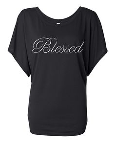 Blessed Rhinestone Transfer Bling Tshirt by BlingnPrintStreet