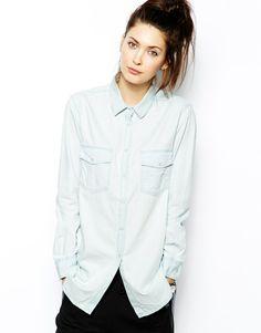 Cheap Monday Loght Denim T-Shirt #fashion - Definitivamente éste es mi estilo!!!
