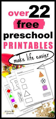 Over 22 FREE Preschool Printables - Perfect for Homeschooling Families