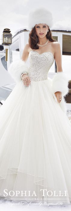 Ice queen by Sophia Tolli Fall 2015