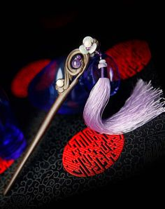 Generic Phoenix_Pinheiro, women girls _classical_ebony_a_Purple_crystal_step_shook_his_ head hair Headdress up_stream_of National_wind_ jewelry _Ornaments >>> You can get more details by clicking on the image. #hairandmakeup