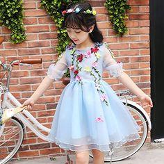 92a09433cd XIAOHUAHUA Kids Mädchen Sommer Kleid Mädchen Prinzessin Rock Tutu Rock Garn  Im Westlichen Stil Sommer Kinder