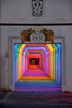 Light Rails is a permanent LED light art installation in Birmingham, Alabama by artist Bill FitzGibbons, as funded by the Community Foundation of Greater Birmingham's Community Catalyst Fund donors in partnership with REV Birmingham. The spectacular spectrum of colors illuminate an underpass at 18th street in downtown Birmingham, adding a brilliant bit of artistic life to the community.