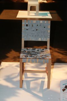 Berlage Chair in the spotlight display in Virginia's BluSky event.