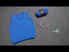 CLIP 41 - CableKnit Sweater Vest for Baby 1 ( Đan gile bé trai - Thân trước ) - TOCCHIN DIY - YouTube