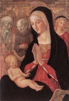 FRANCESCO_DI_GIORGIO_MARTINI_Madonna_And_Child_With_Saints_And_Angels  FRANCESCO DI GIORGIO MARTINI (Siena, 1439 – Siena, 29 novembre 1501)    #TuscanyAgriturismoGiratola