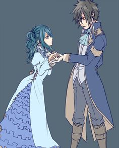 Gruvia, A fairy tale in fairy tail. I love these two!!! They also need to get together! <3