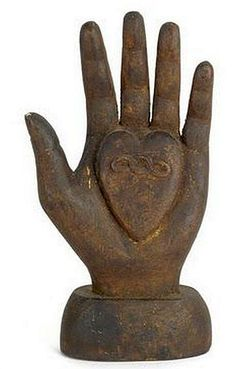 century Odd Fellows Heart in Hand staff finial. 10 h - love the heart in hand. I Love Heart, With All My Heart, Hand Kunst, Show Of Hands, Sculptures Céramiques, Hand Sculpture, Odd Fellows, Heart Hands, Paperclay