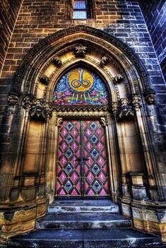 Castillo puerta, Praga, República checa,