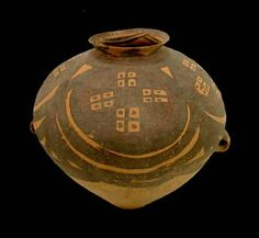 """Neolithic Yangshao Painted Terracotta Vessel - H.619 Origin: China Circa: 3000 BC to 1500 BC  Dimensions: 16"""" (40.6cm) high  Collection: Chinese Medium: Painted Terracotta"""