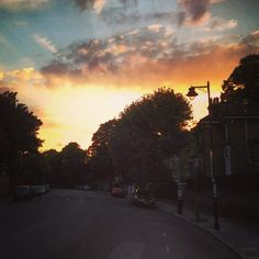 Arriving home to our beloved Canonbury after a long day at the office.  Beautiful summer's eve.