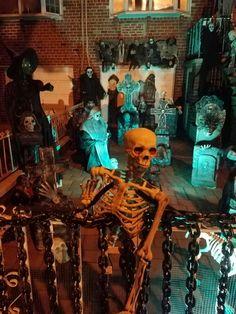 Haunted Halloween, Halloween 2016, Yard Haunt, New York, Night, Painting, Art, Art Background, New York City
