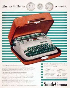 Available in five models with the Super Silent model featured with Holiday carrying case Retro Office, Vintage Office, Sweet Memories, Childhood Memories, Smith Corona Typewriter, Office Items, Vintage Typewriters, Funny Picture Quotes, Oldies But Goodies