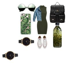"""green like your eyes"" by oliviasyko on Polyvore featuring Converse, Sole Society, Lucky Brand, Revo, Casetify, Olivia Burton, AMBRE and plus size clothing"