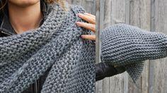 THE THREE YEARS PROJECT: DIY - XXL Strickdreieckstuch Crochet, Projects, Diy, Fashion, Breien, Log Projects, Moda, Blue Prints, Bricolage