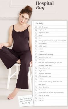 Checklist: Packing a Hospital Bag or Birth Center