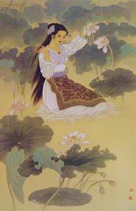 § Wang meifang & Zhao Guojing 艺术家-云峰画苑 Korean Illustration, Traditional Japanese Art, Types Of Art, Art World, Art Pictures, Portrait, Disney Characters, Fictional Characters, Disney Princess