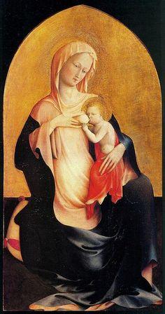 #NarrArte #scritturebrevi quando la Madonna non è in trono ma è seduta a terra si dice Madonna dell'umiltà Masolino