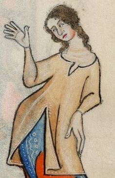 Detail from The Luttrell Psalter, British Library Add MS 42130 (medieval manuscript,1325-1340), f67r